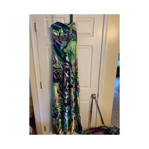 Multi colored prom dress